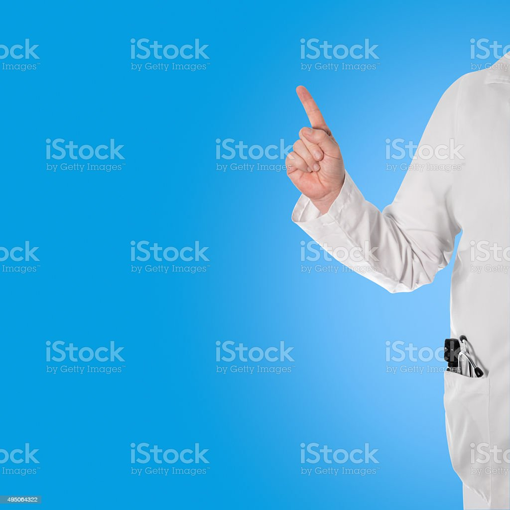Doctor with wagging finger stock photo