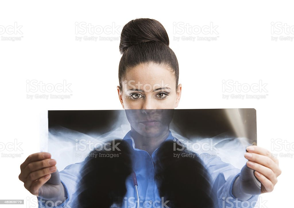 Doctor woman with stethoscope stock photo