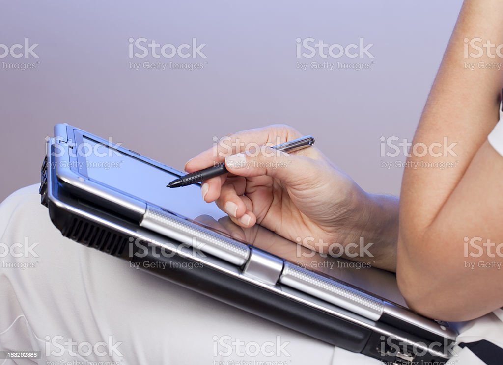 doctor working on digital tablet royalty-free stock photo