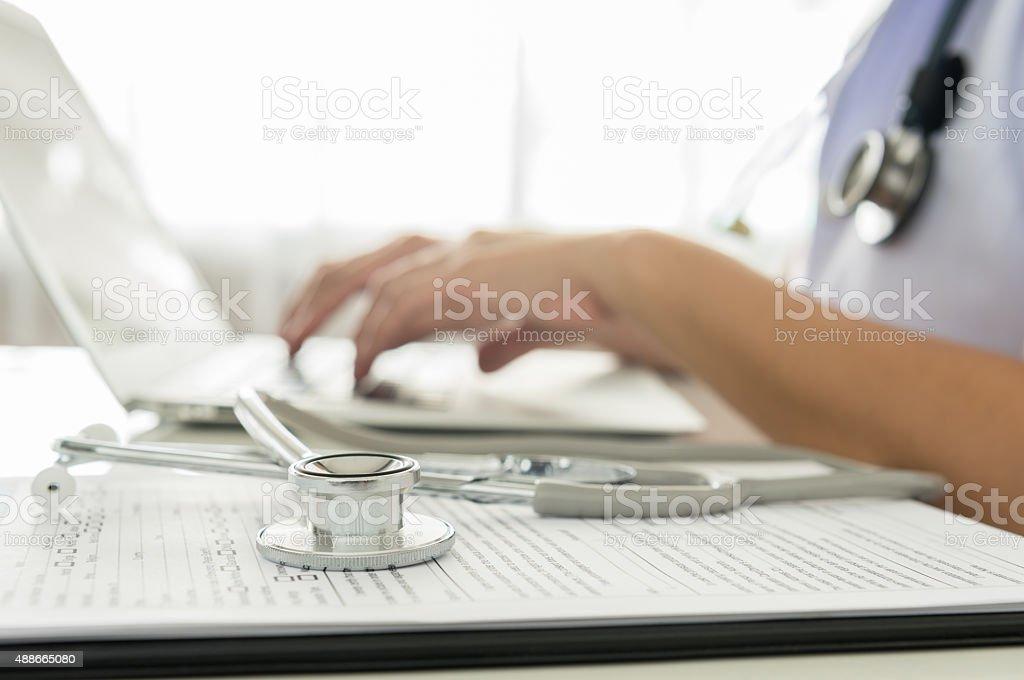 doctor working stock photo