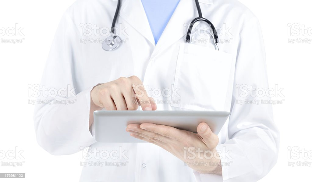 Doctor Working With Digital Tablet PC royalty-free stock photo