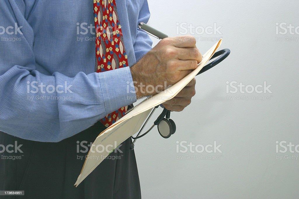doctor write royalty-free stock photo