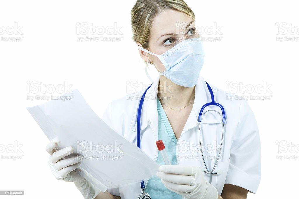 Doctor writing prescription royalty-free stock photo
