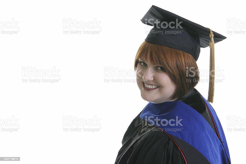 Doctoral Graduate stock photo