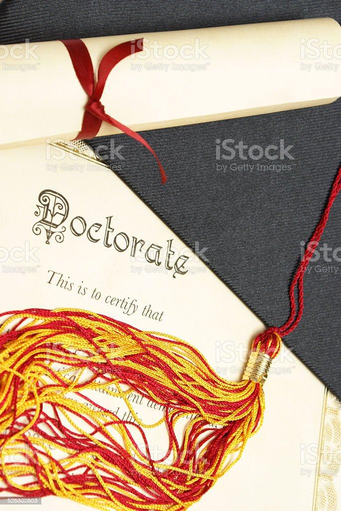 Doctorate stock photo