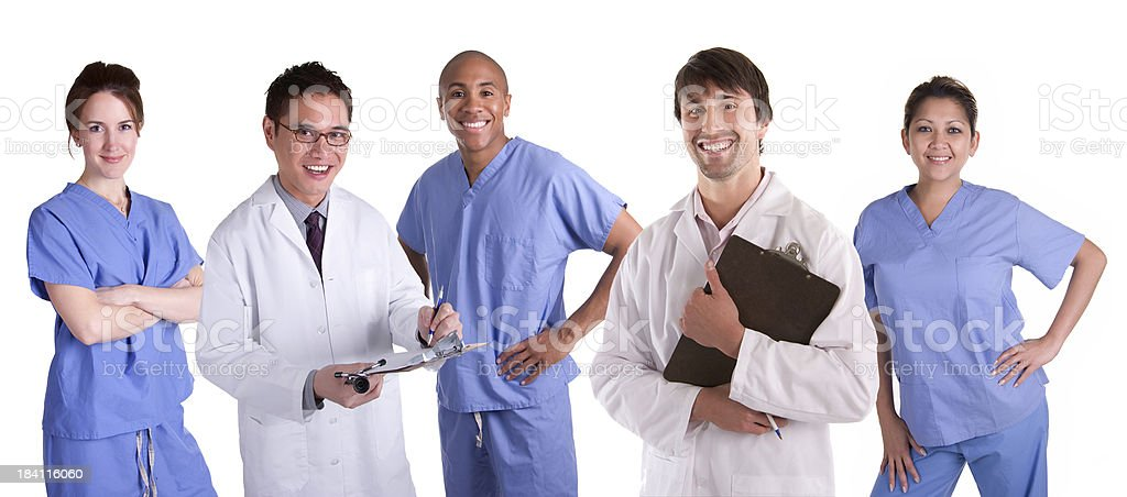 Doctors and Nurses Group stock photo