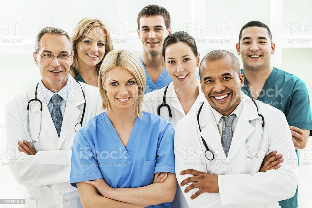 Doctors and surgeons. stock photo