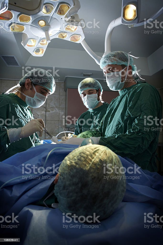 Doctors are on an operation royalty-free stock photo