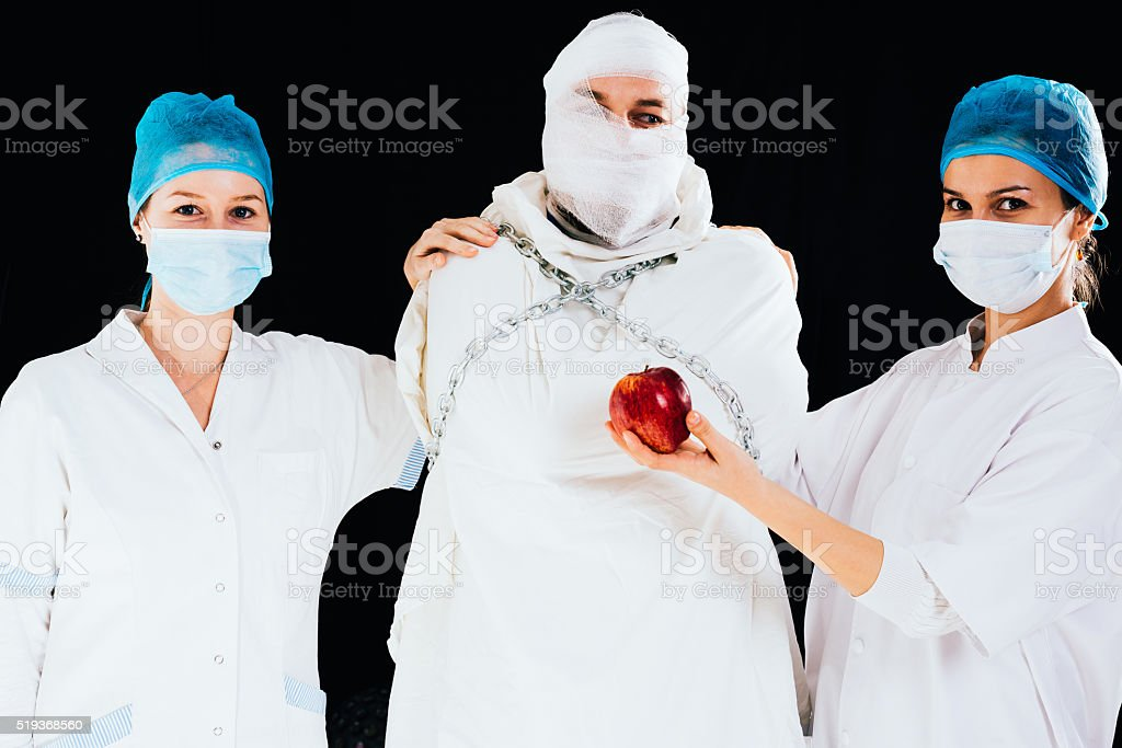 Doctor's assistance stock photo