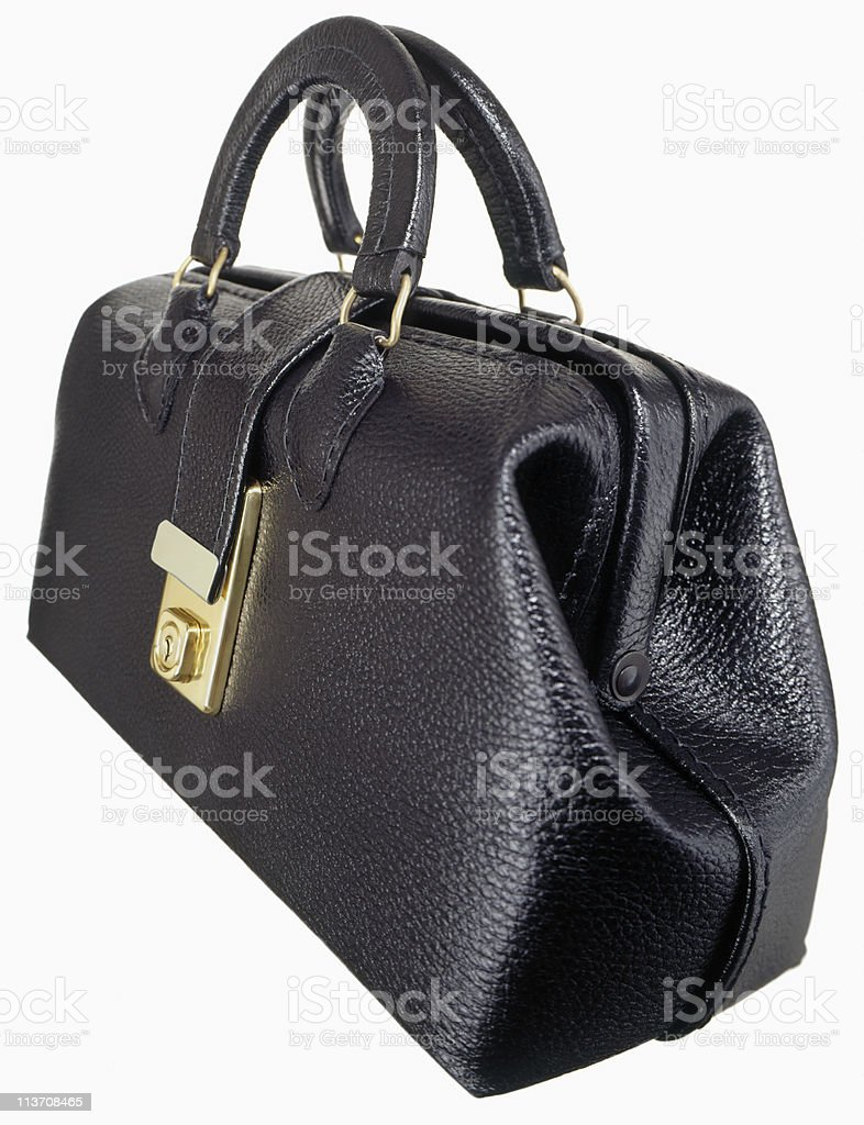 doctor's bag cut out on white stock photo