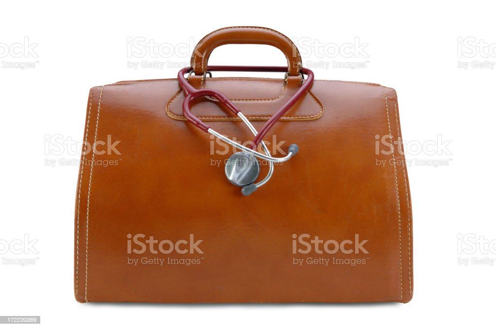 Doctor's Bag with Path stock photo