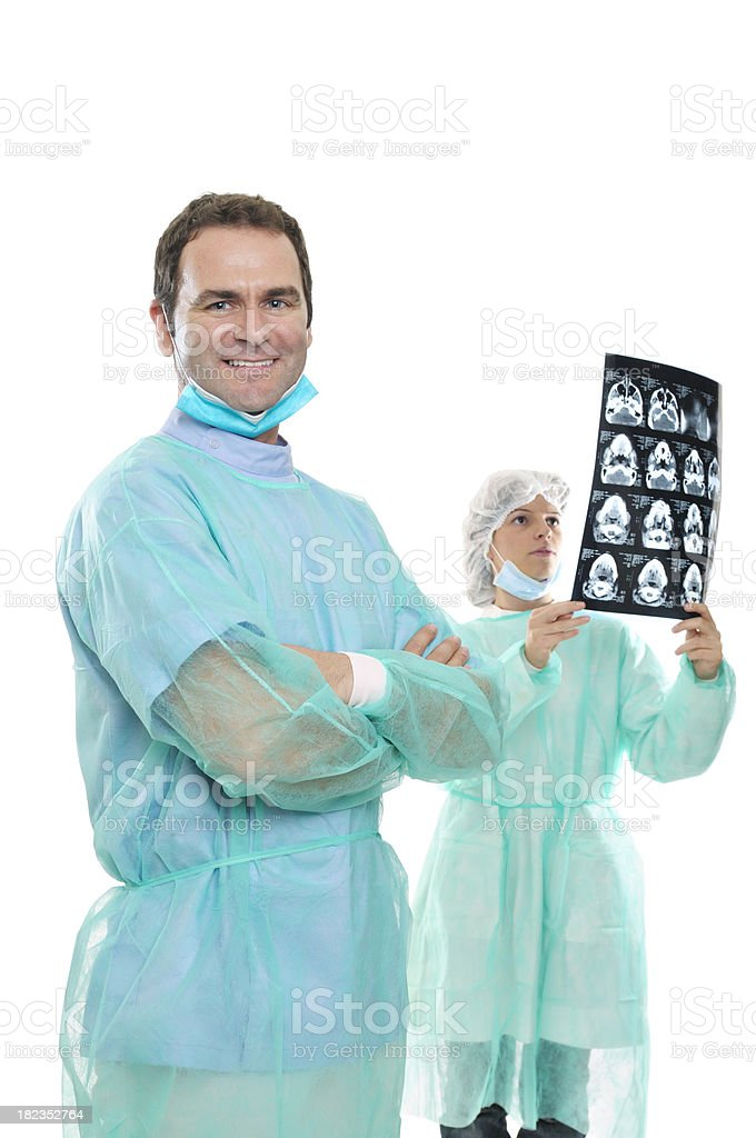 Doctors before surgery stock photo