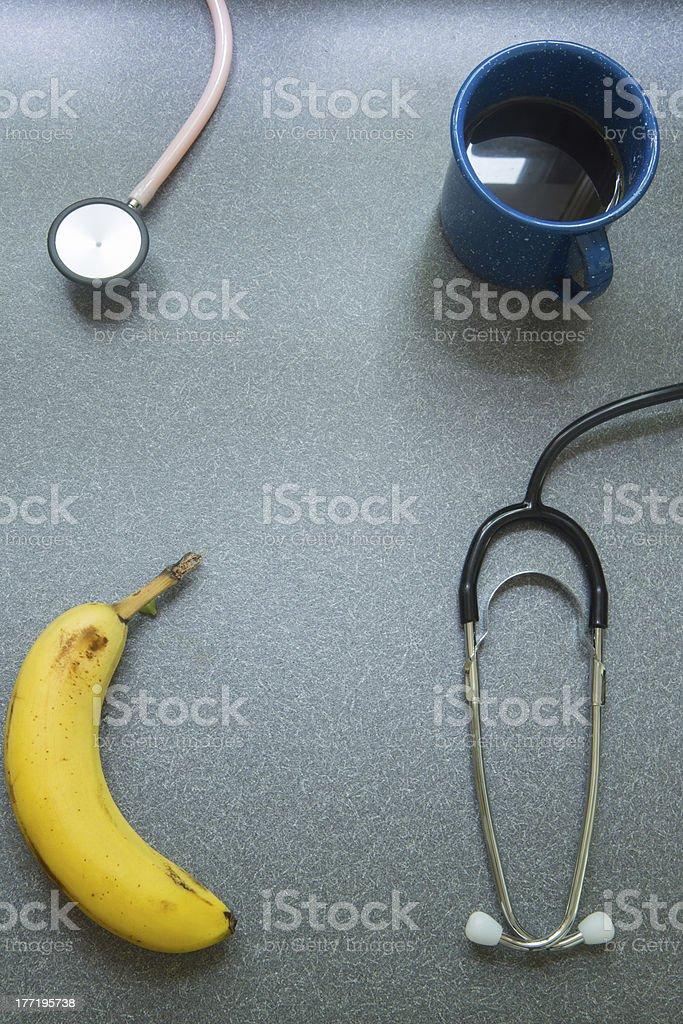Doctor's Breakfast royalty-free stock photo