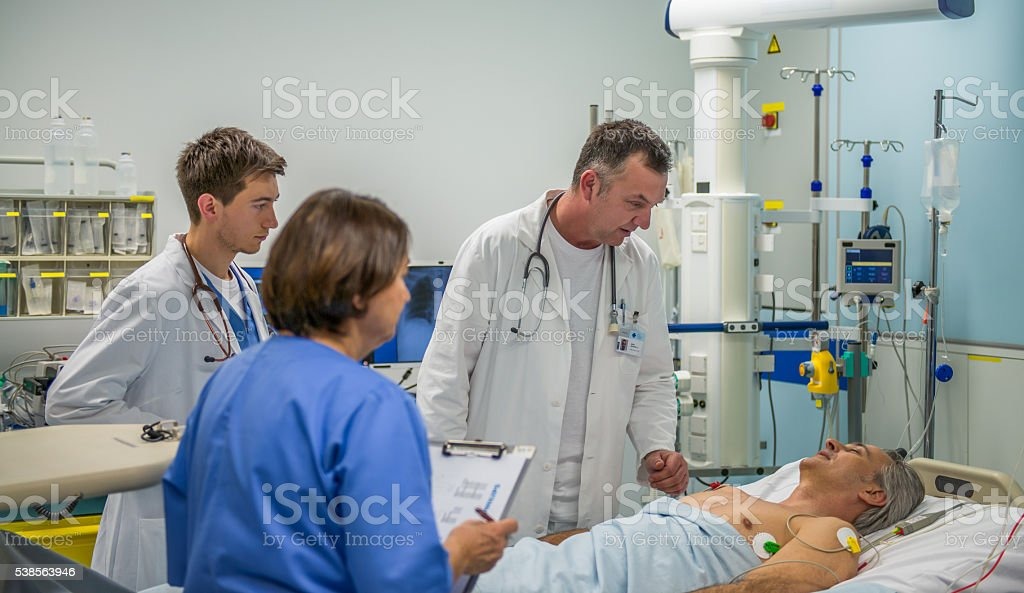 Doctors Consoling stock photo