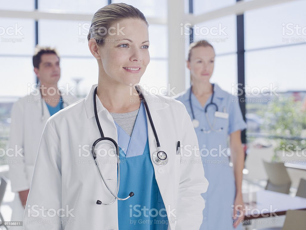 Doctors in hospital royalty-free stock photo