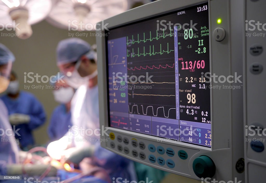 doctors in operating theatre stock photo