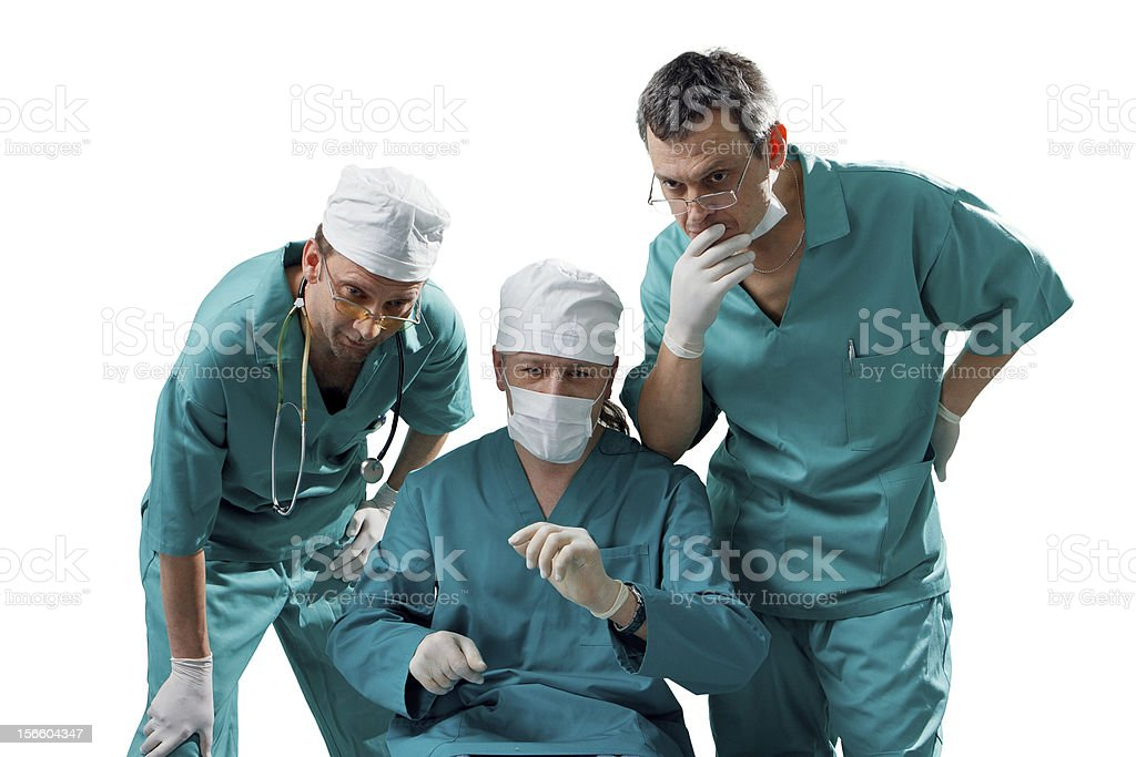 doctors, isolated on white background royalty-free stock photo