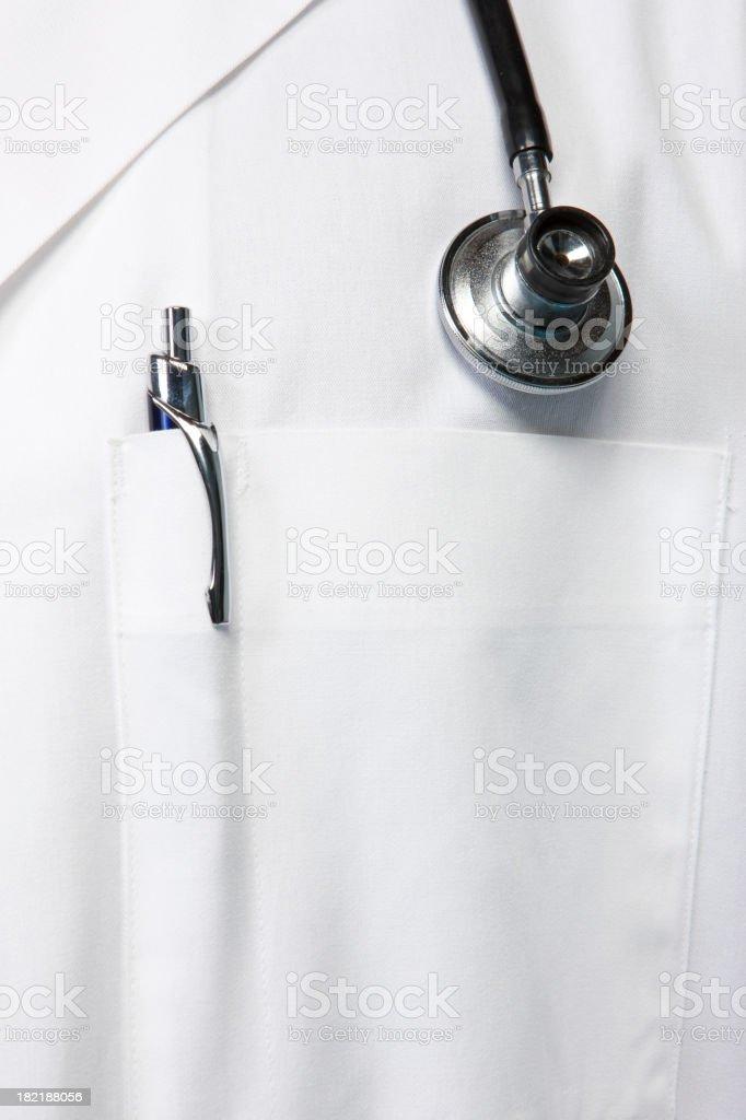 Doctor's Lab Coat stock photo