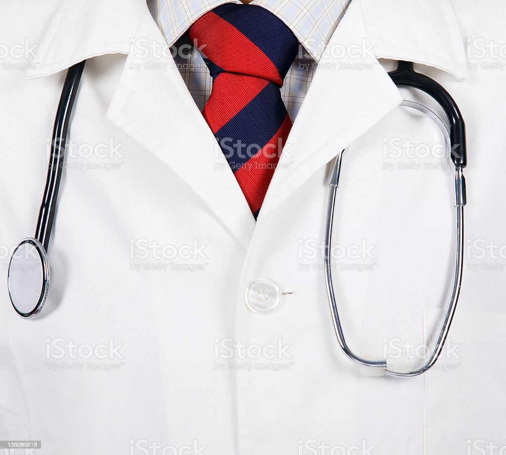 doctors lab white coat. royalty-free stock photo