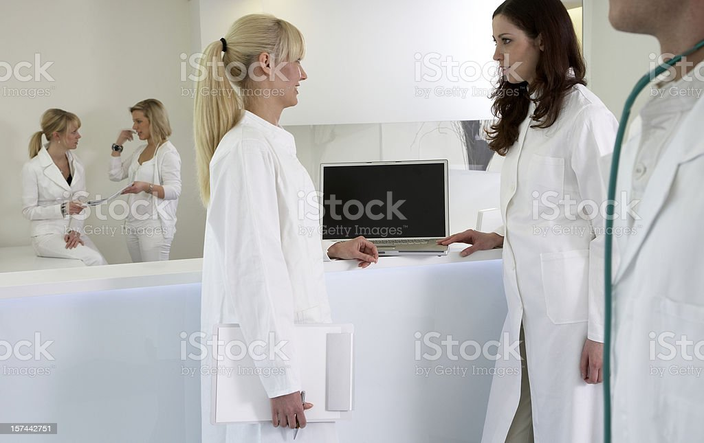 Doctors meeting and consulting royalty-free stock photo