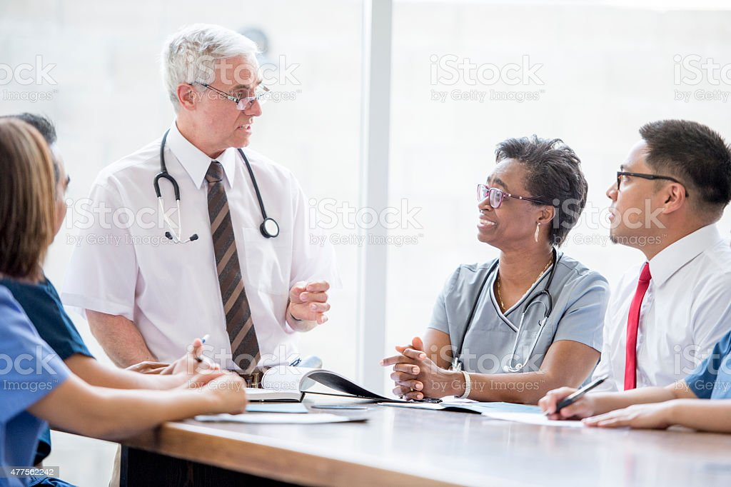 Doctor's Meeting stock photo