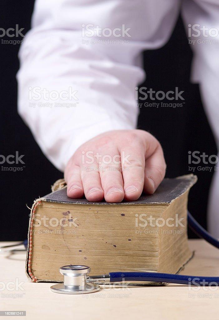 Doctor's oath stock photo