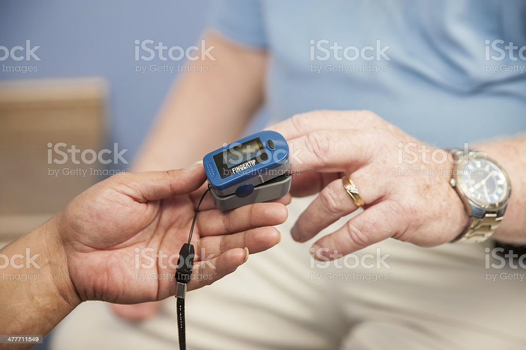 Doctors Office Blood Pressure Checkup royalty-free stock photo