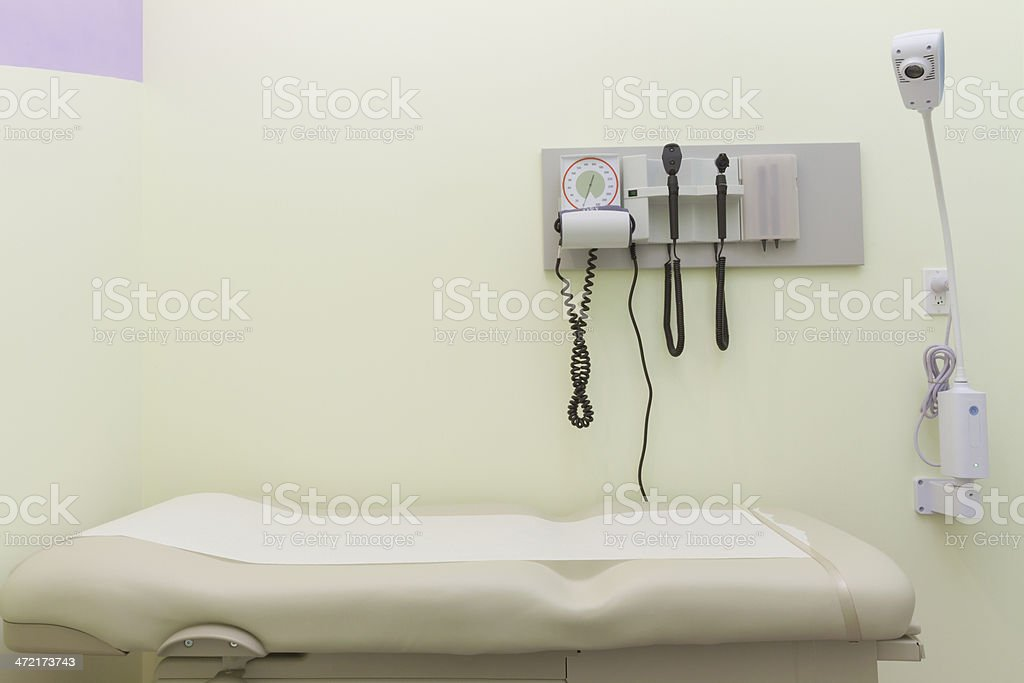 A doctors office examination room stock photo