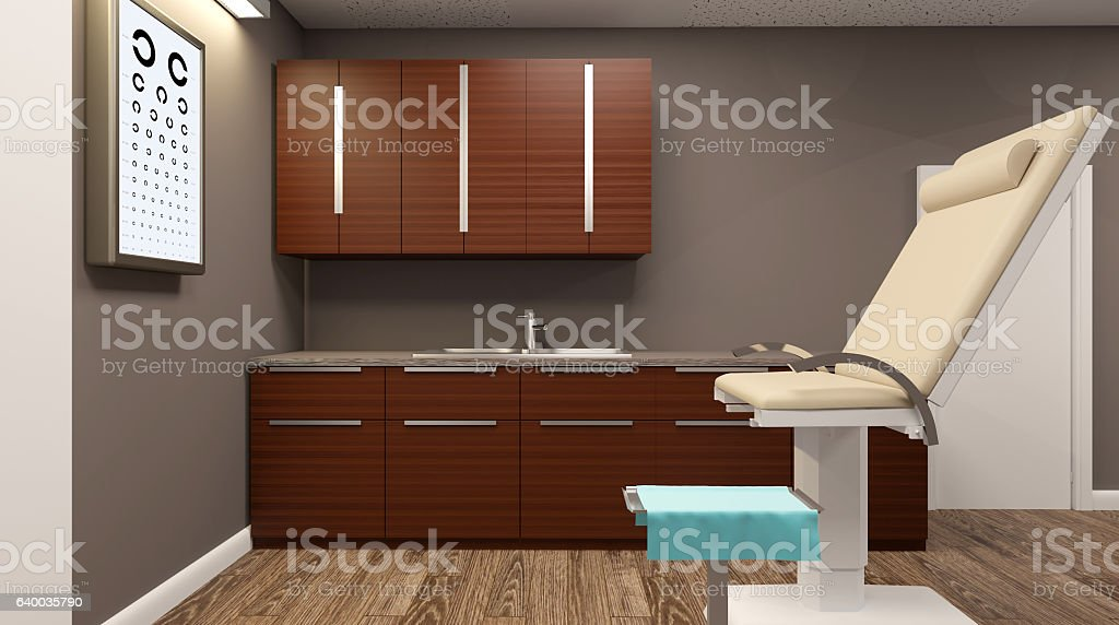Doctor's office in the hospital. 3D rendering stock photo