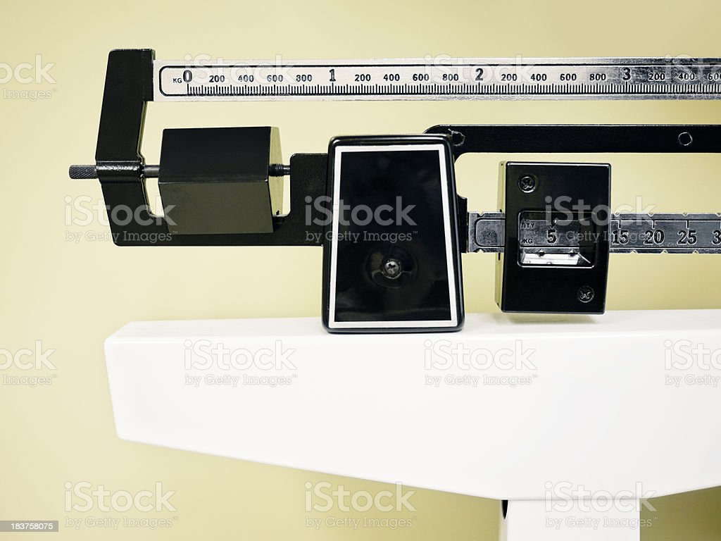Doctor's Office Scale stock photo