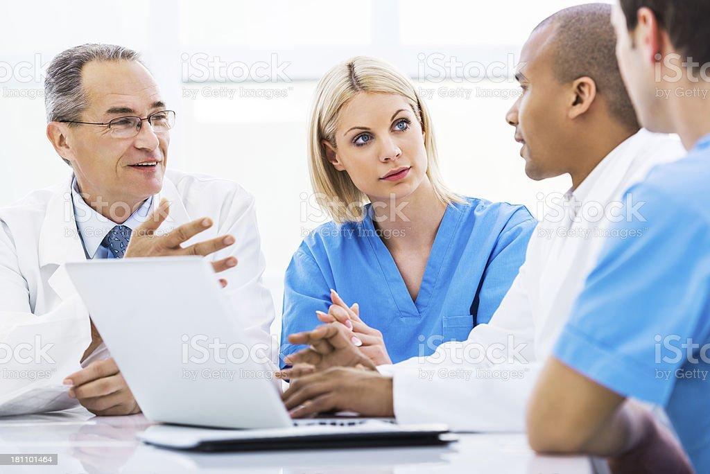 Doctors on a meeting. royalty-free stock photo