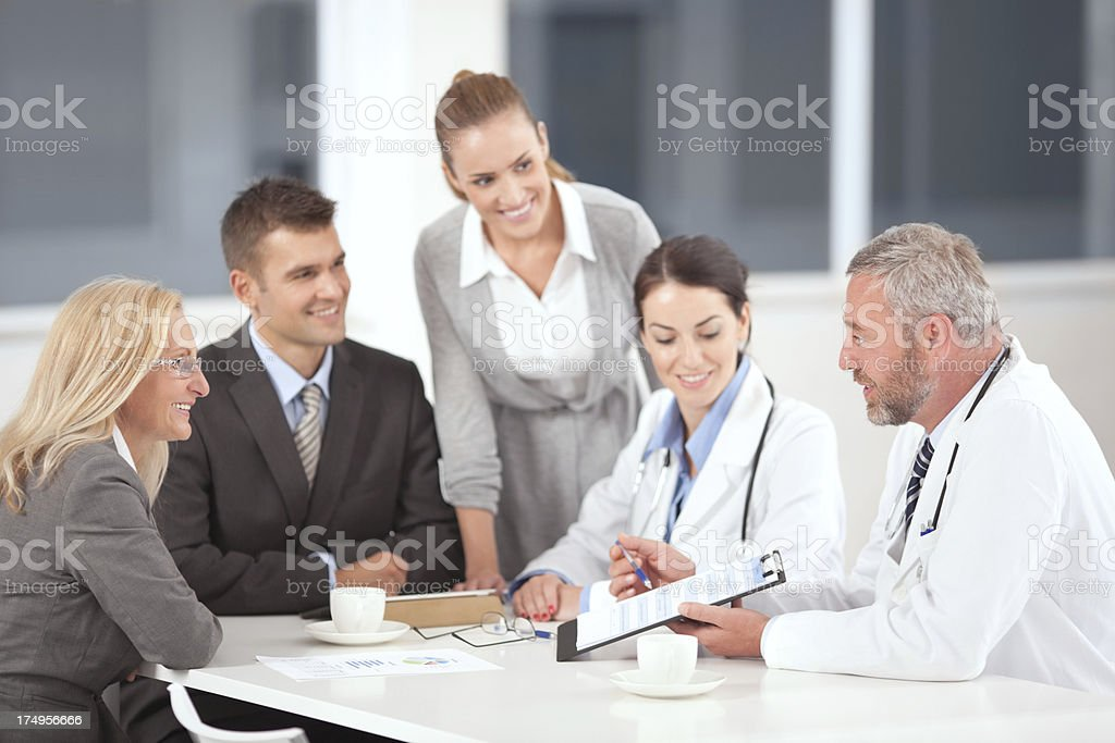 Doctors on business meeting royalty-free stock photo
