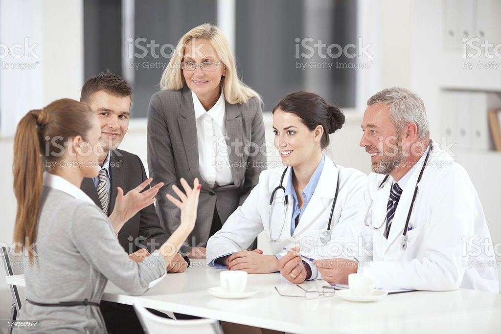 Doctors on business meeting. royalty-free stock photo