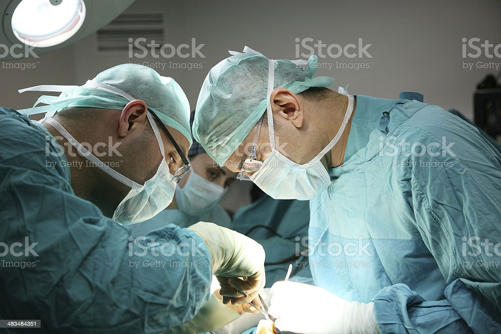 Doctors on the operations stock photo