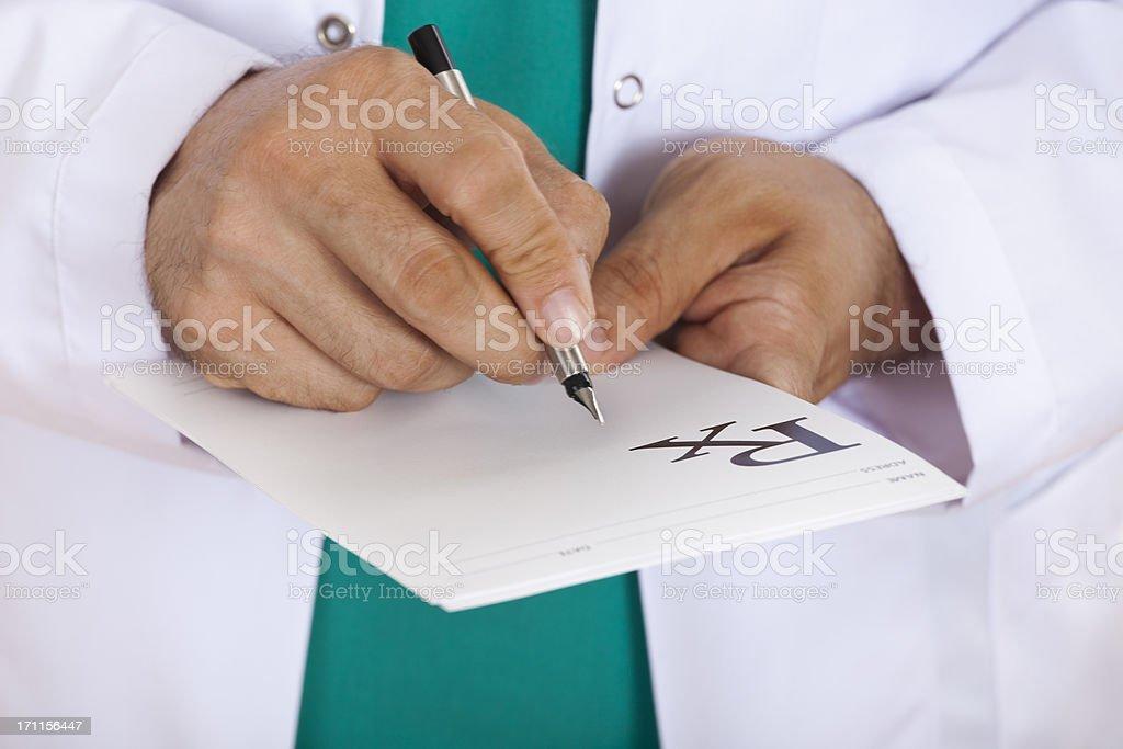 Doctor's Prescription stock photo