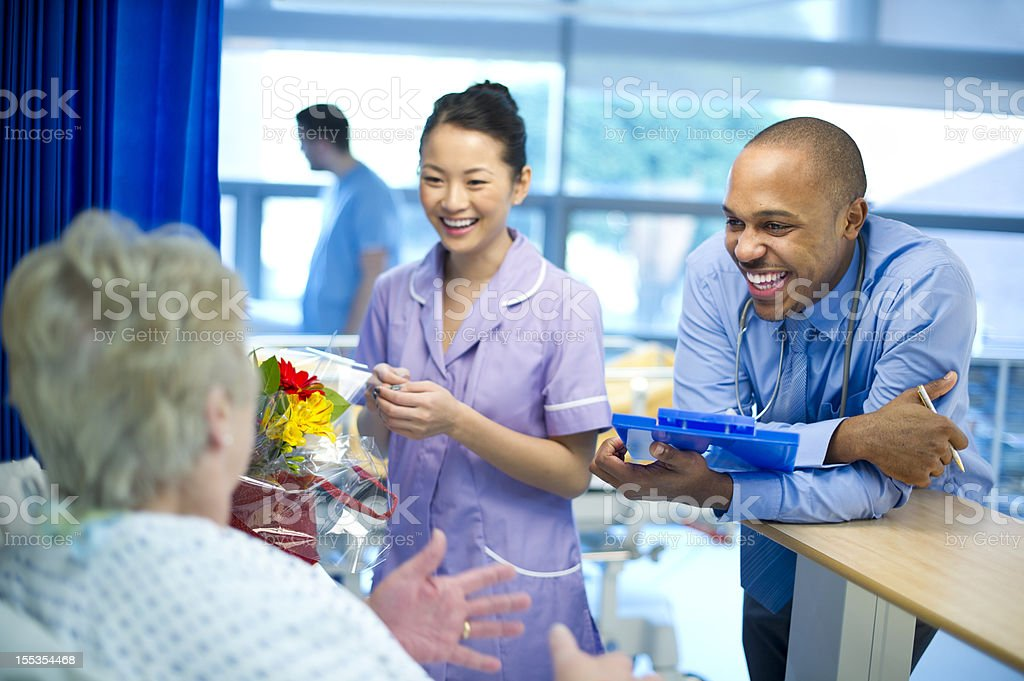 doctor's rounds royalty-free stock photo