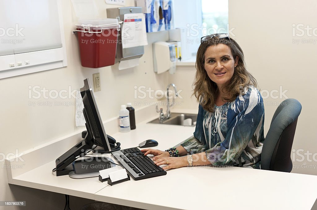 Doctor's Secretary stock photo