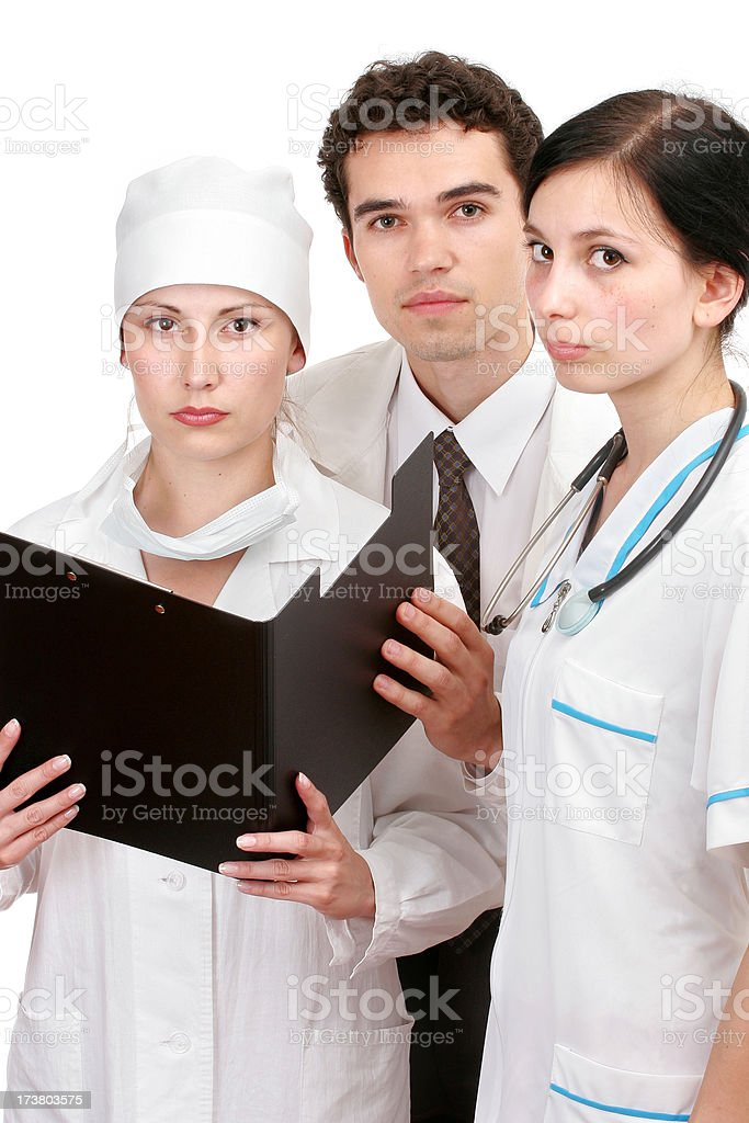 Doctors team royalty-free stock photo