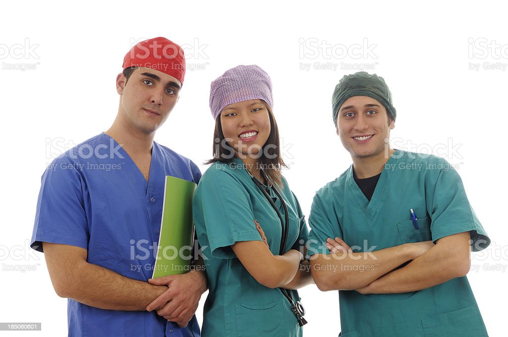 Doctors Team Portrait royalty-free stock photo