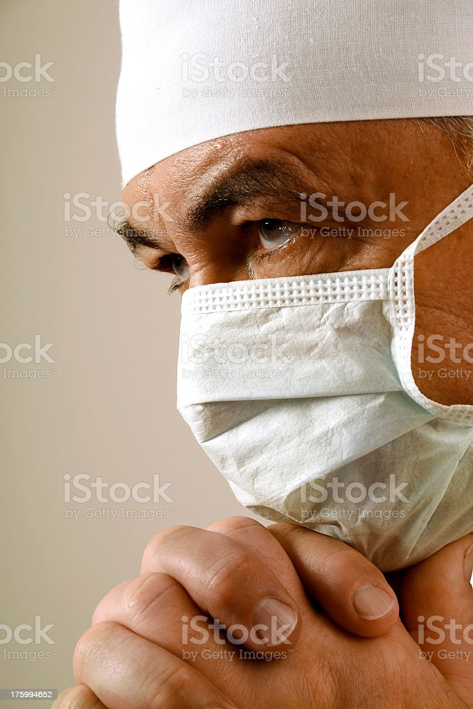 Doctor's thoughts royalty-free stock photo