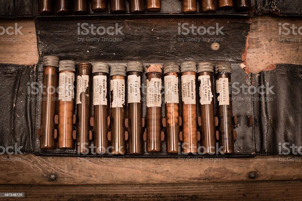 Doctor's Vintage House Call Kit royalty-free stock photo