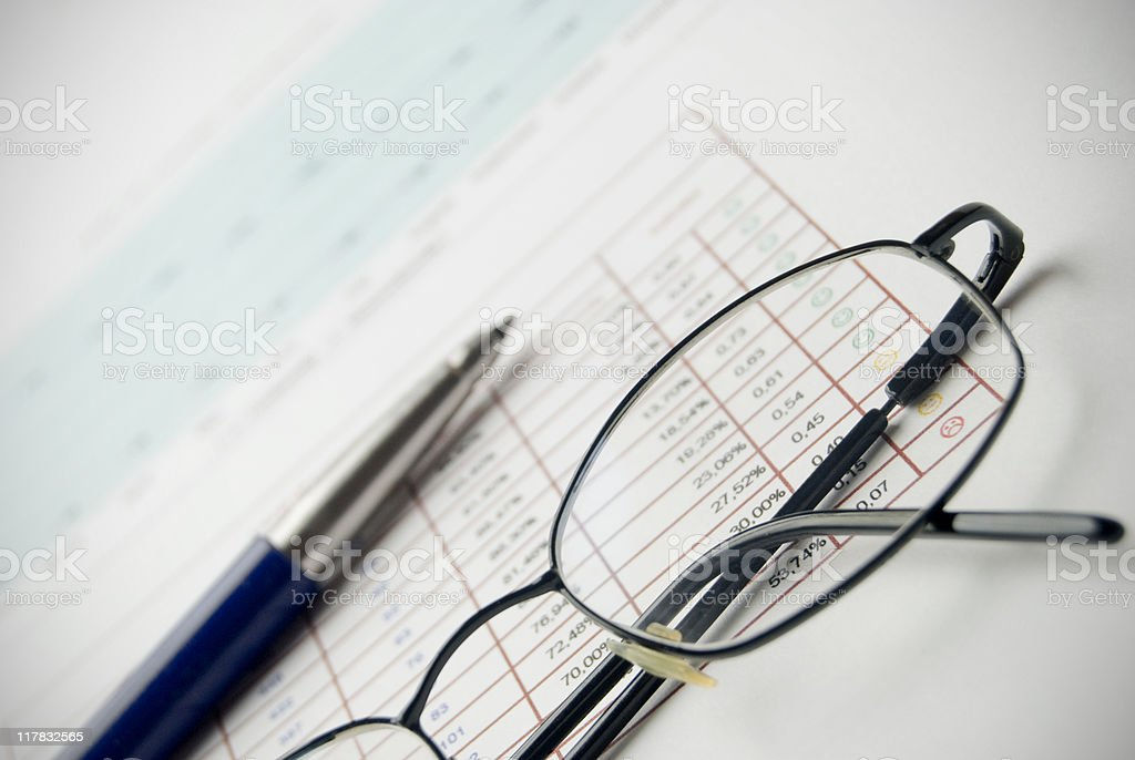 Document analysis royalty-free stock photo