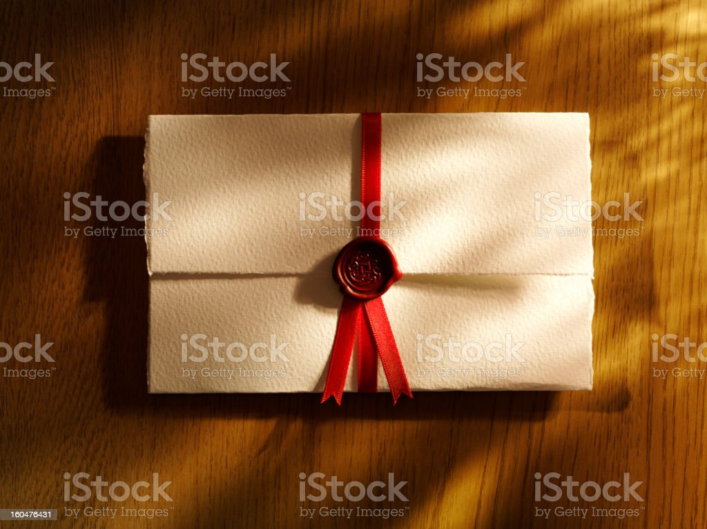 Document and Red Seal stock photo