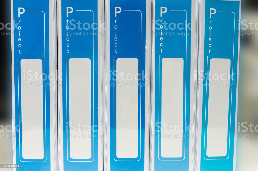 document binder stacked stock photo