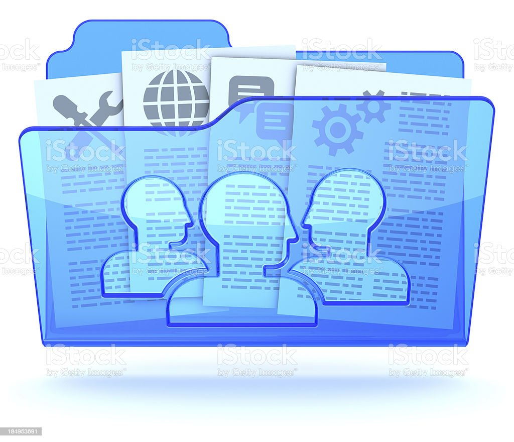 Document collaboration shared folder stock photo