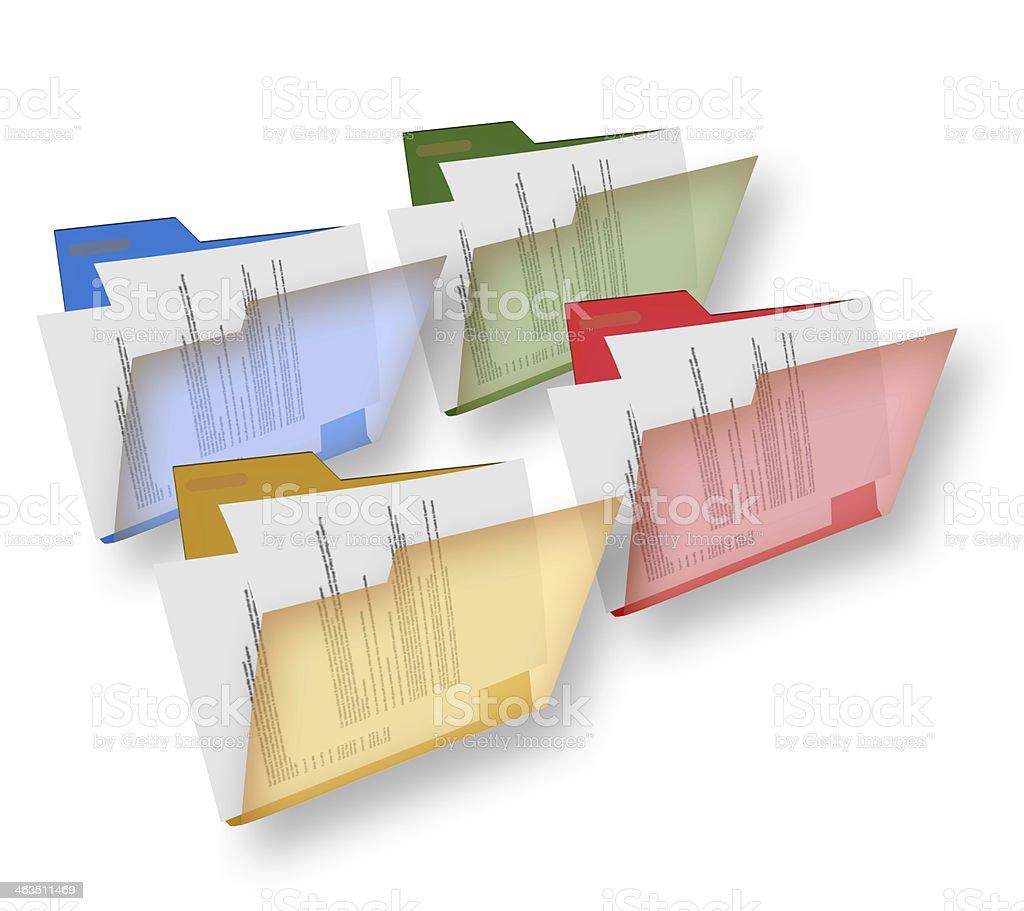 Document folders royalty-free stock photo