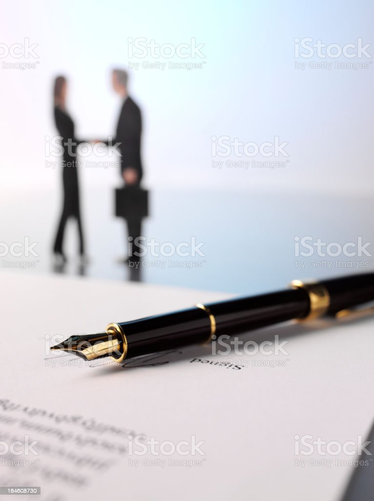 Document for Signing royalty-free stock photo