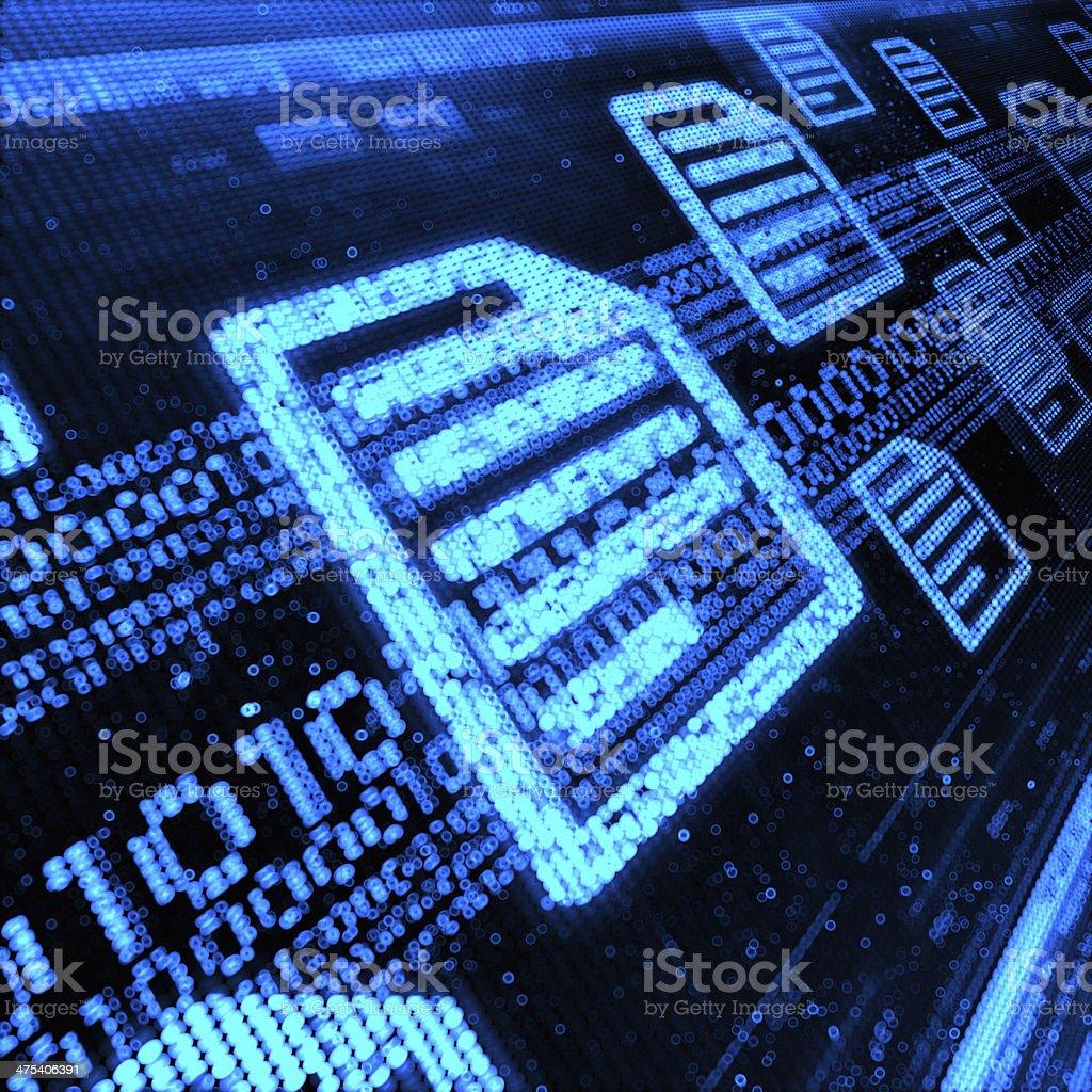 Document Icon stock photo