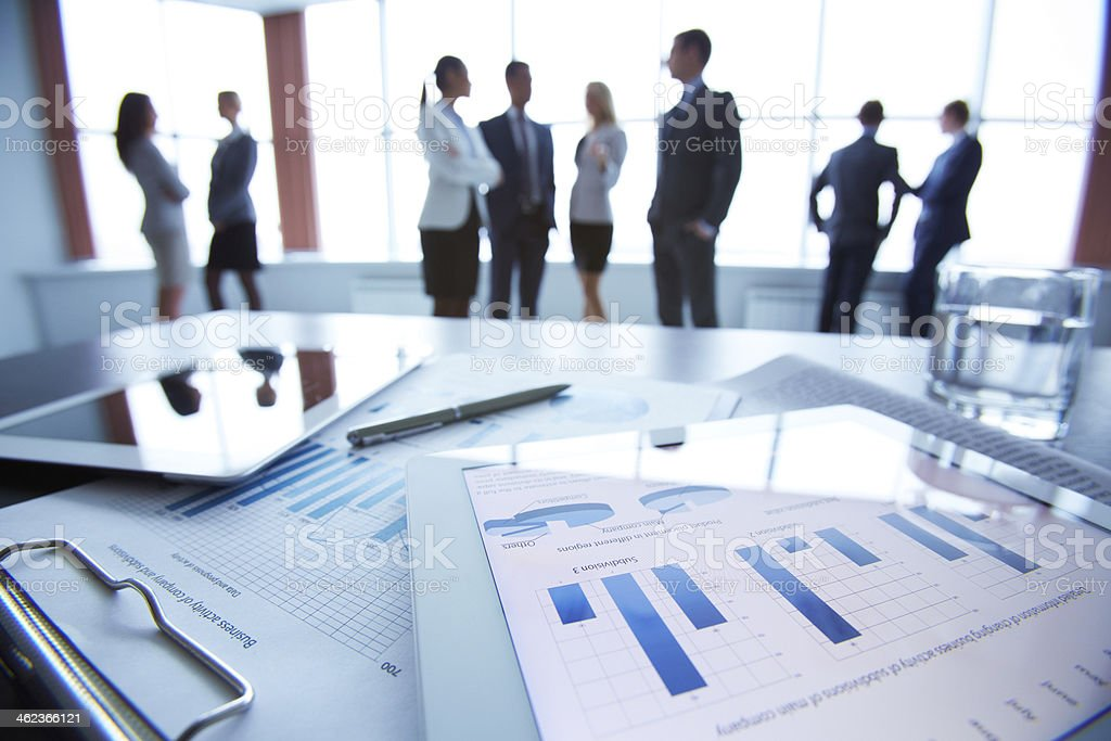 Document in touchpad stock photo