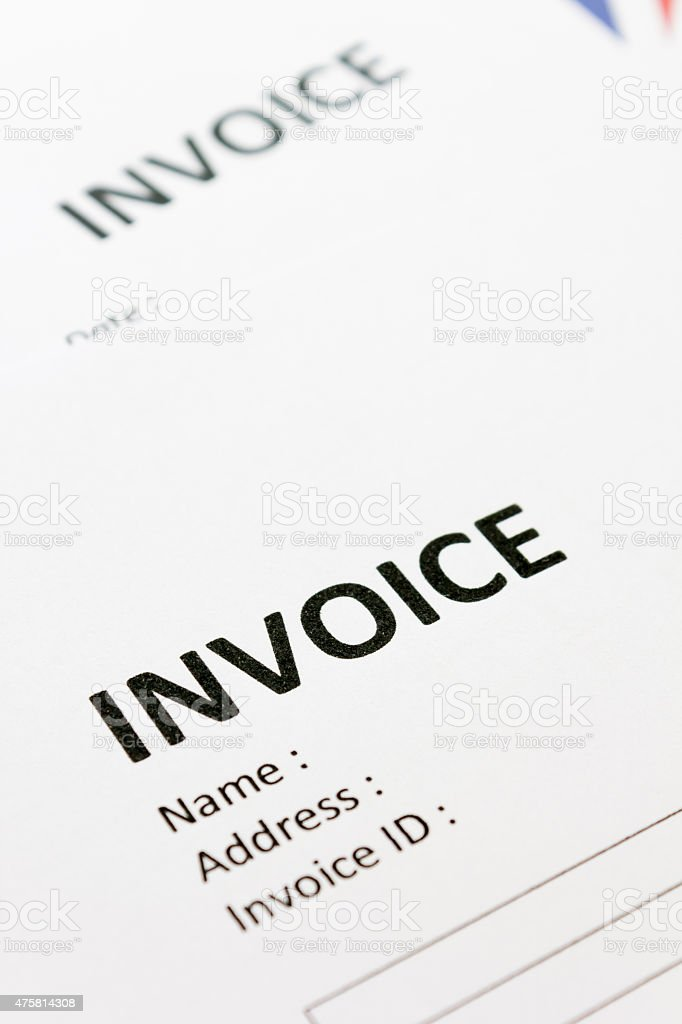 Document Invoice stock photo